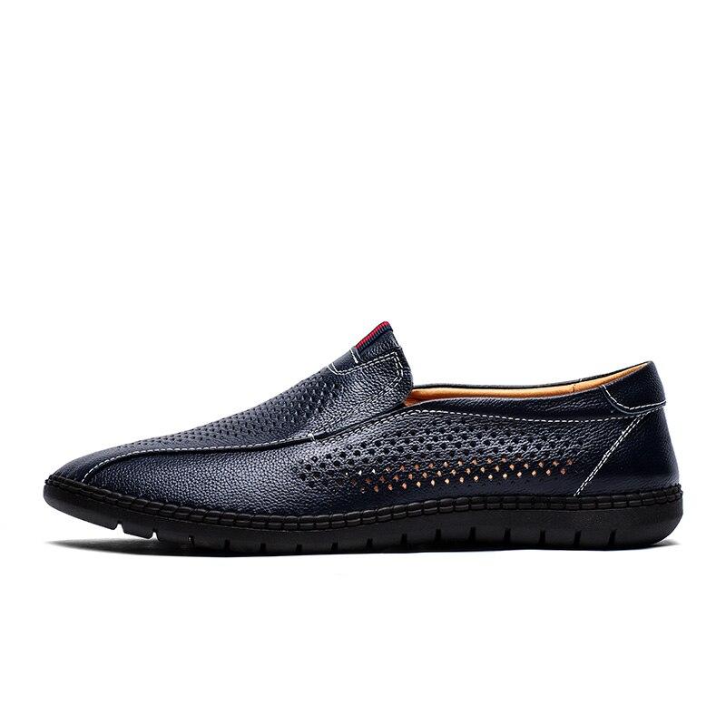 Chaussures Casual Trous Mocassins Respirant Blue Luxe Sneakers D'été En Marque Mode Plat Nouveau Mx3 white 2018 Shipping Hommes De Drop Cuir 8EwFctSq