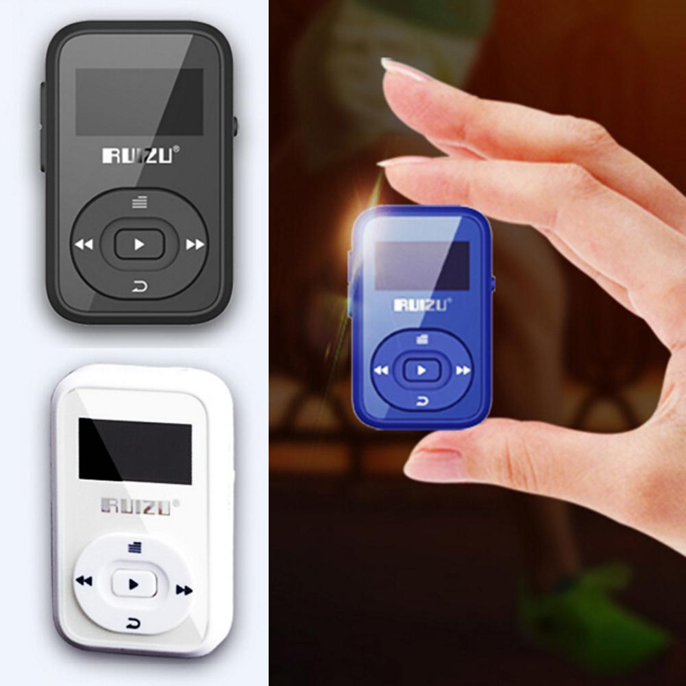 Mini Original RUIZU X26 Sport Bluetooth MP3 music player Recorder FM Radio Supprot SD Card Clip Bluetooth MP3 player 8GB MP3 rui ruizu x20 16g синяя линия поддержки без потерь качества звука mp3 mp4