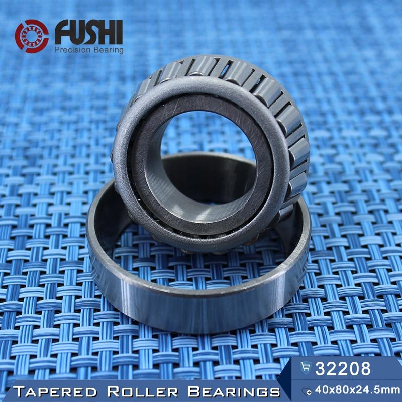 32208 Bearing 40*80*24.5 mm ( 1 PC ) Tapered Roller Bearings 32208 X 7508E Bearing free shipping 1 pc 30305 25x62x18 5 tapered roller bearing 25 62 18 5 qc