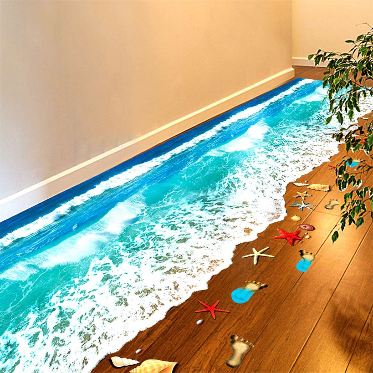 Spiaggia di sabbia carta da parati recensioni acquisti for Carta da parati 3d mare