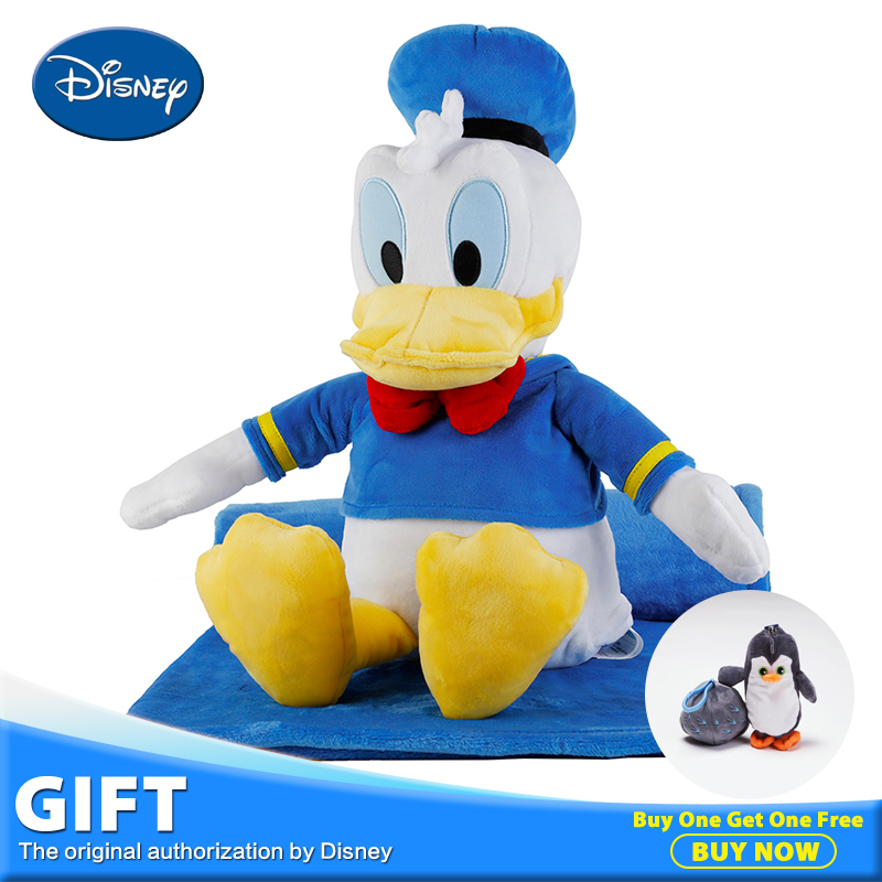 Disney Donald Children Plush Stuffed Toy Peluches Doll Portable 3 in 1 Rest Blanket Pillow Quilt Cushion Christmas Gift Toys donald l sparks advances in agronomy 95