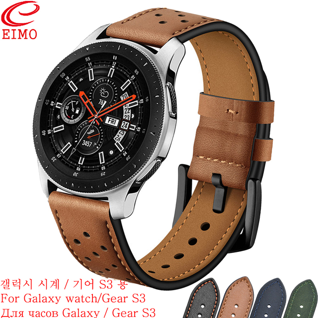EIMO Gear S3 Strap for Samsung Galaxy watch 46mm Frontier Classic band smart wat
