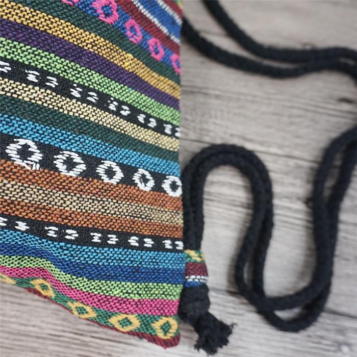 HTB1d9W2aRsmBKNjSZFFq6AT9VXaf LilyHood Women Fabric Backpack Female Gypsy Bohemian Boho Chic Aztec Ibiza Tribal Ethnic Ibiza Brown Drawstring Rucksack Bags
