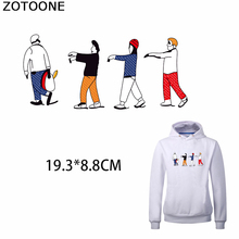 ZOTOONE Colorful Man Iron on Transfers Patch for Clothing Funny Appliques Patches DIY Fashion Clothes Decorations Applications E