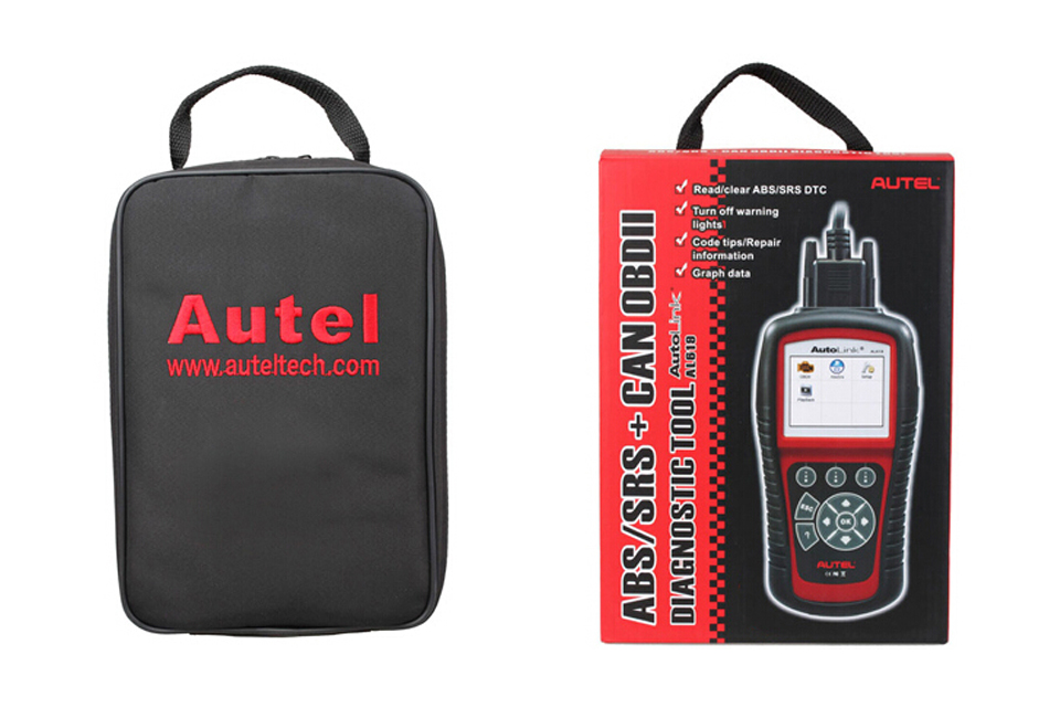 US $159 95 |Original Autel Autolink AL619 ABS/SRS + CAN OBDII Diagnostic  Scan Tool Turn off Check Engine Light clears codes resets monitors-in Code