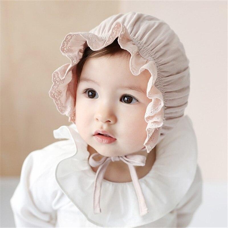 Nieuwe lente en zomer cap kinderen baby katoen prinses hoed - Babykleding - Foto 3