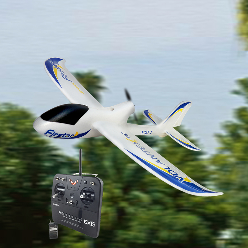 Volantex Firstar RC RTF Glidler Plane Model W/ Brushless Motor Servo ESC Battery new phoenix 11207 b777 300er pk gii 1 400 skyteam aviation indonesia commercial jetliners plane model hobby