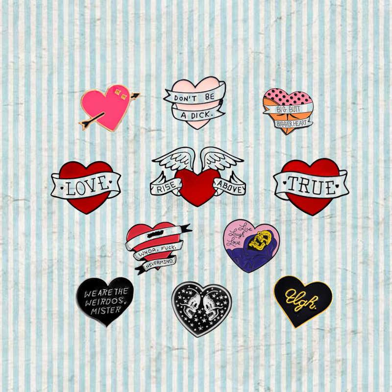 2019 a Forma di Cuore Collection Spilla Distintivo Smalto Creativo Coppia Regalo di Amore Cowboy Collare Spilla Spille Gioielli per le Donne Accessori