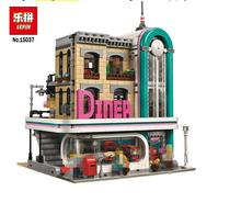 In Stock Lepin 15037 The Downtown Diner Set Genuine 2778Pcs Streetview Series 10260 Building Blocks Bricks Funny Toys DIY Gifts