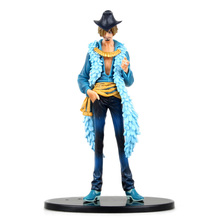 Anime One Piece Sanji 15th Edition vo1.6 PVC Action Figure Collrctible Toy 7 18CM J01 anime one piece figure sanji farewell zeff scene pvc action figure sanji figure model toys doll collection gift juguetes hot