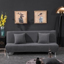 190-225cm Cheap Universal Sofa Cover Folding Stretch Big Elasticity Couch Cover Sofa Without Armrest Folding Cover For Sofa Bed(China)