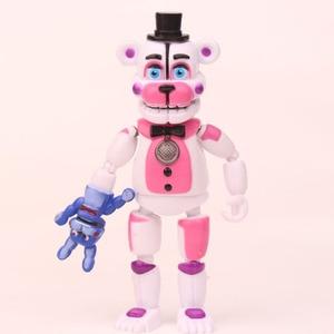 Image 2 - Figuras de acción de FNAF Five Nights at freddys, juguetes móviles de PVC, juguetes de 10 16cm, juego de 5 unidades