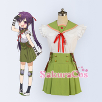 Kakkogurashi! Ebisuzawa Kurumi Cosplay Costume 2017 New Sale Custom Made Dress Top+Skirt+Stockings+Gloves+Headwear