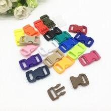 """10 шт 3/""""(10 мм) красочные изогнутые боковые застежки пряжки для Паракорда браслет рюкзаки одежда сумки запчасти"""