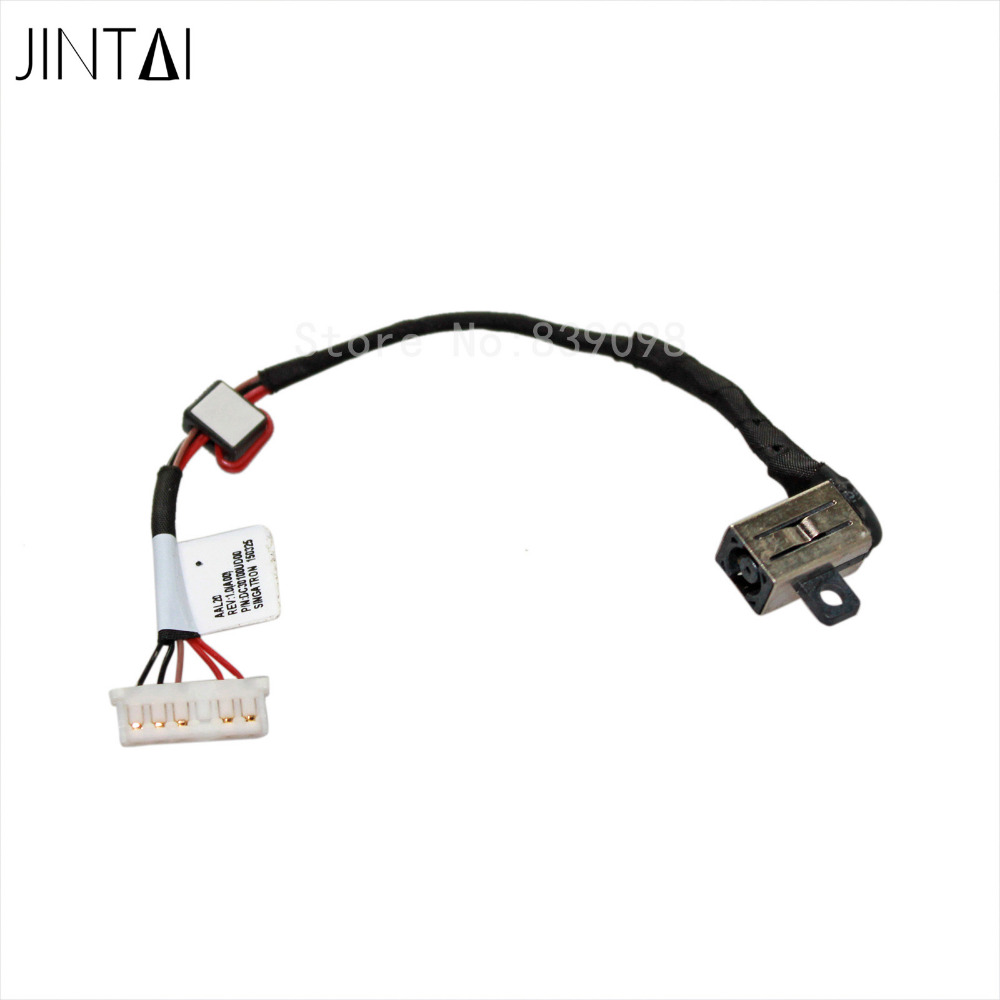 Jintai Wholesale DC Power Jack Charging port socket connector plug in cable for Dell Inspiron 15-5000 5555 5558 5551 5559 KD4T9 10x for asus x52e x53j x53s x54 x54h laptop ac dc power jack port socket connector plug
