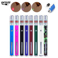 USB Charging Laser Sight Pointer 5MW High Power Green Blue Red Dot Laser Light Pen Powerful Laser Meter 530Nm 405Nm 650Nm Green