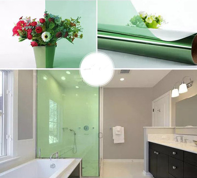 Color film window Self adhesive glass sticker heat insulation sunscreen cellophane transparent decorative window film in Decorative Films from Home Garden