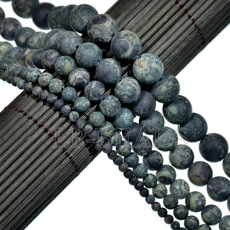 Wholesale Natural Matte Frosted Gemstone Round Loose Beads 4mm 6mm 8mm 10mm