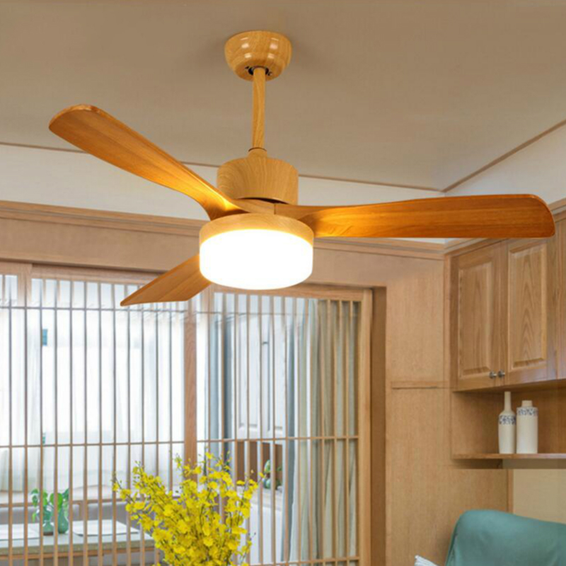 Led ac village ceiling fans with lights minimalist dining - Dining room ceiling fan ...