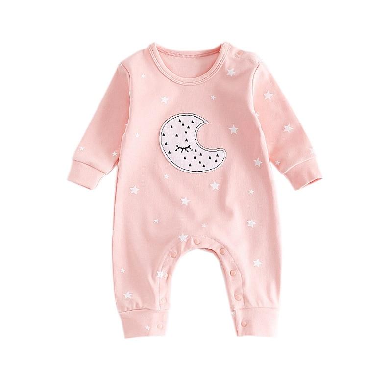 Newest Newborn Baby Boy Girl Romper Infant Star Printed Jumpsuits Long Sleeve Fashion Conjunto Menino Costume Baby Clothing