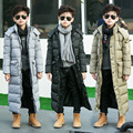 Down jacket boys  x-long Winter Boy Down Jackets 8 9 10 11 12 13 14 15 16 Long Thick Warm Children Winter Outerwear Parkas