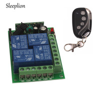 433MHz 12V 4CH Channel Relay ON OFF Wireless Remote Control Smart Switch Transmitter Receiver