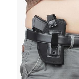 Image 5 - Caça tático Coldre De Nylon Neoprene Arma HolsterGLOCK 17 19 22 23 32 33 92 M9 Coldres de pistola Escondido Universal