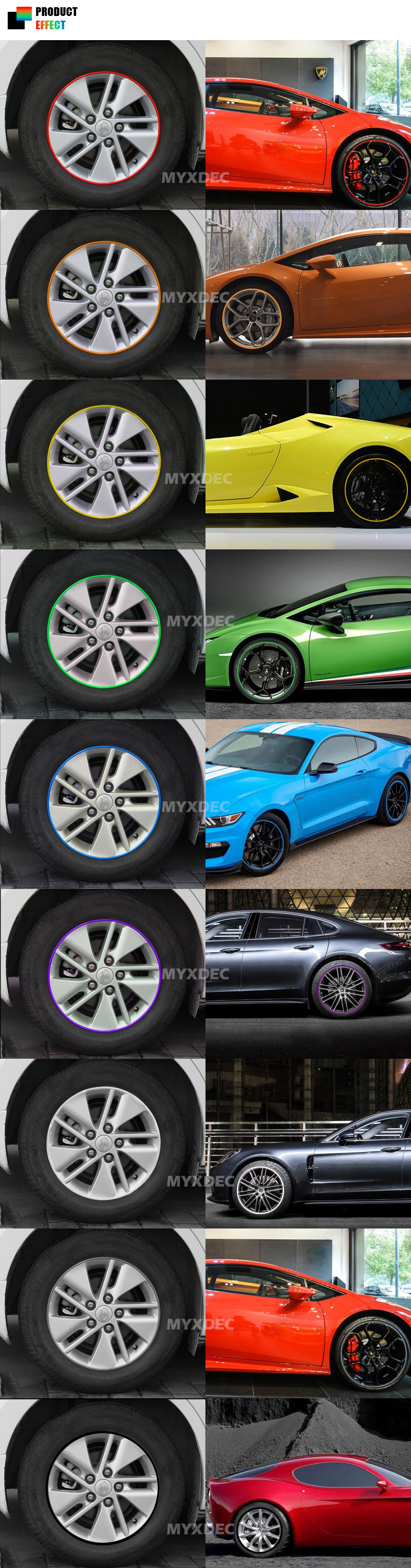 8 M Car Motorcycle Wheel Hub Tire Sticker Decorative Strip Cool Cold Ice2 Cooling Pad 156 Inch 01 02 4