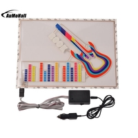 Sound Activated Light Colorful Guitar Car Stickers Music Rhythm LED Flash Lamp 2000H 40cm 29 5cm