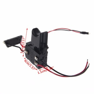 Image 5 - Electric Drill Dustproof Speed Control Push Button Trigger Switch DC 7.2 24V Switches