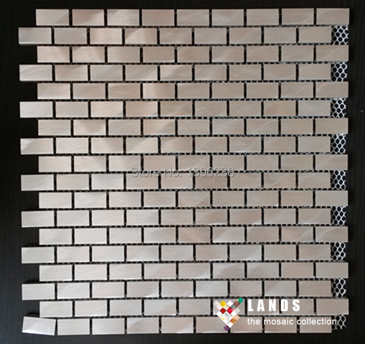 Aluminum mosaic Rose gold color modern design,kitchen backsplash wall metal wallpaper,Home Building DIY sticker material,LSALK05 45x200cm mosaic aluminum foil self adhensive anti oil wallpaper for kitchen wall sticker diy decals high temperature resistant