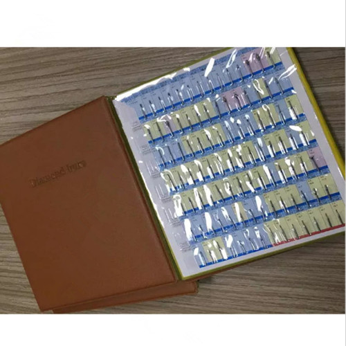 154pcs per catalog Dentist diamond bur book dental material dental lab equipment FG burs Brand New