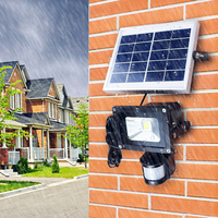 FAKEDA 10W COB LED Solar Motion Light Flood Security Garden Light Pir Motion Sensor Solar Light IP65 Waterproof Outdoor light