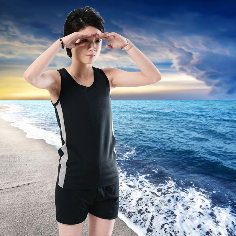 8d9d4a2d83 NEW Summer Vest Swimwear with Breast Binder for Tomboy Lesbian Bathing Suit  Tanks Tops Chest Binder Tomboy Clothing Flat Breast-in Tank Tops from  Women's ...