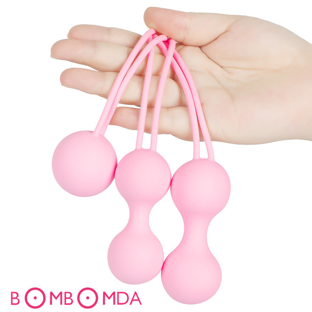 Safe Silicone Vagina Balls Kegel Ball Ben Wa Ball Vagina Tighten Exerciser Vaginal Geisha Ball Shrinking Ball Sex Toys for Women