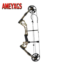 1Set Archery Compound Bow 70-15LBS Adjustable Arrows Hunting Shooting Target Camo Accessory