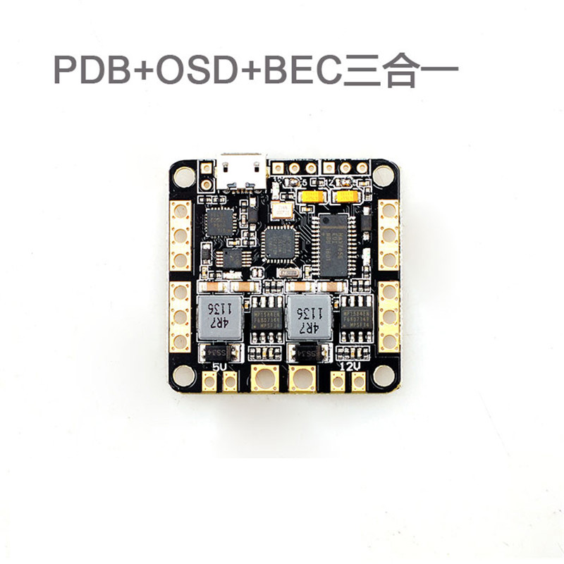 Tarot 3in1 Power Distribution Board PDB OSD UBEC 2-6S 5V 12V 3A DC-DC for CC3D Naze32 SP Racing F3 Flight Controller FPV Drone micro minimosd minim osd mini osd w kv team mod for racing f3 naze32 flight controller