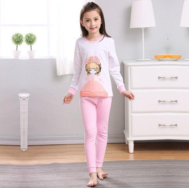 Kids Girls Pajamas Sets Princess Pyjamas Kids Pajama Infantil Sleepwear  Home Clothing Cartoon Cotton Baby boys pijama menino d25a18853