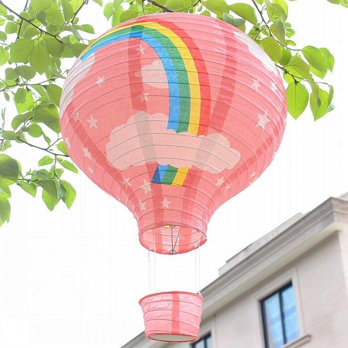 10 Piece 12 Inch 30cm Beautiful Rainbow Hot Air Balloon Paper
