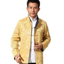 Новинка, высокое качество, двусторонний костюм с длинным рукавом, пиджак в стиле Тан, ретро, китайский стиль, топ кунг-фу, Taichi пальто для мужчин