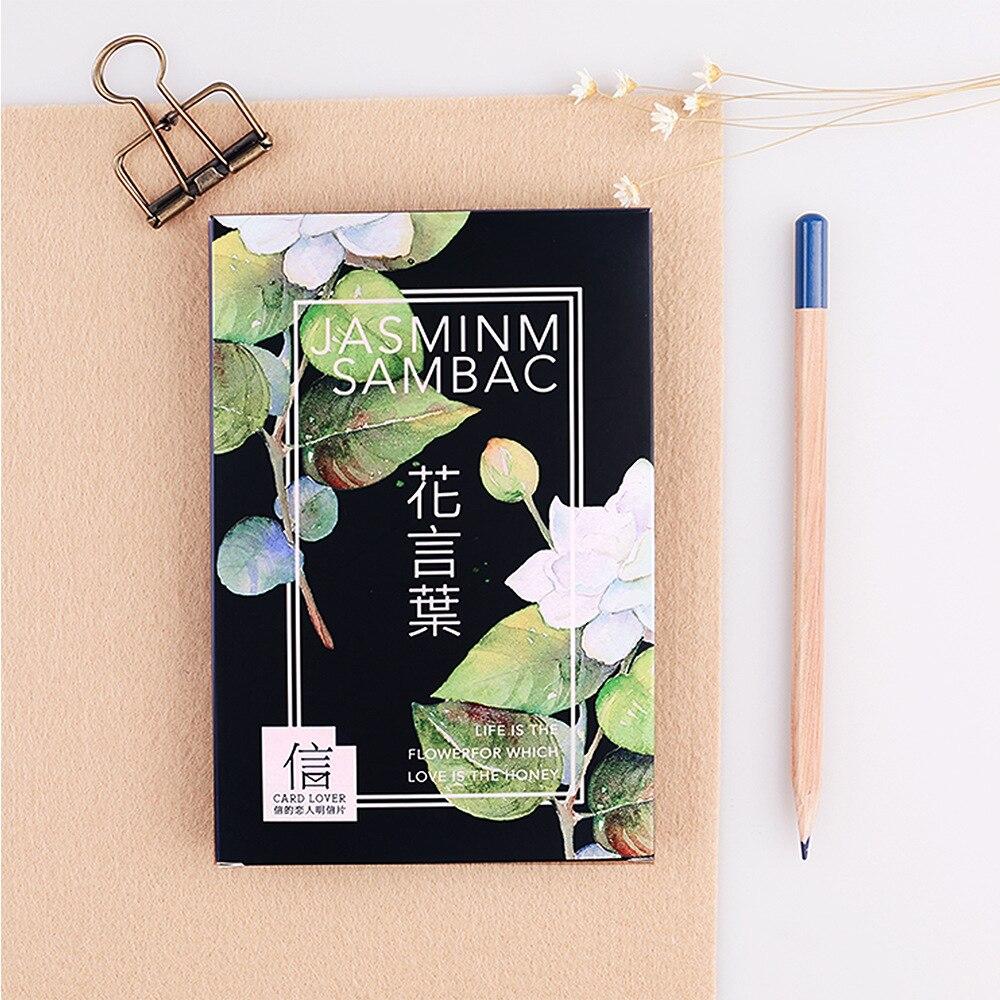 30pcs/lot Flowers and Leaves Kawaii Cartoon Postcards Cute DIY Envelop Gift Card Creative Bookmark Stationery Wholesale