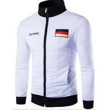 Мужская повседневная куртка мужская Германия Испания американский флаг вышивка дизайн модная куртка