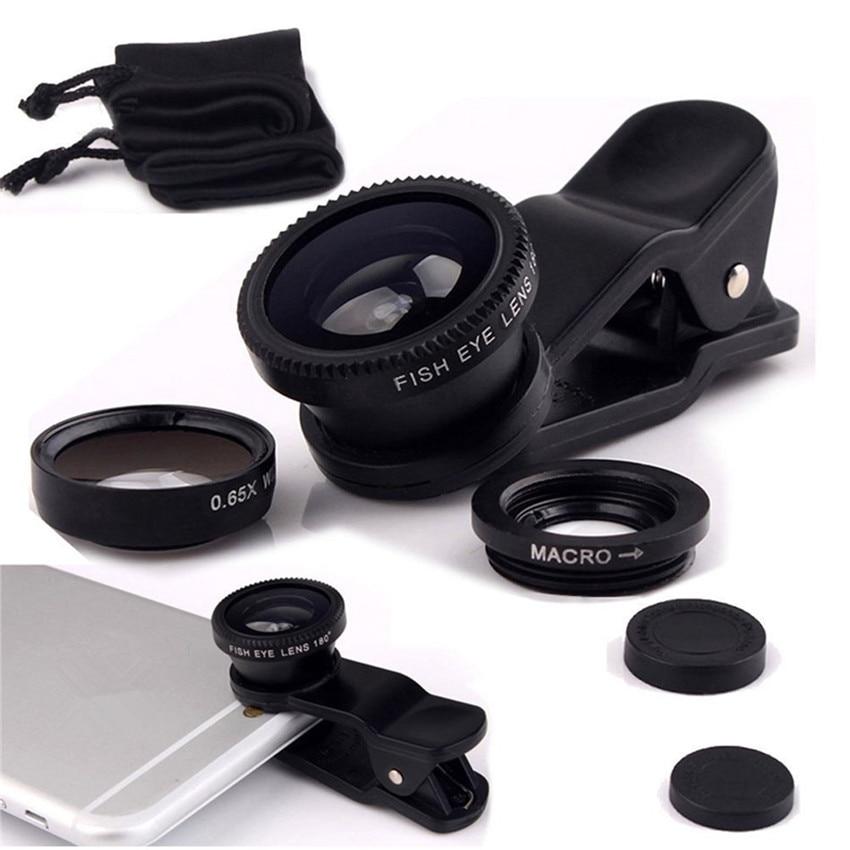 4in1 12x qara Zoom Telescopic Optik obyektiv və makro və geniş - Cib telefonu aksesuarları və hissələri - Fotoqrafiya 5