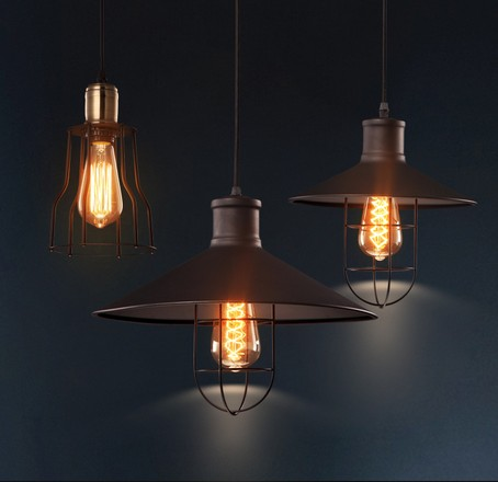 Nordic Loft Style Droplight Edison Industrial Vintage Pendant Light Fixtures For Living Dining Room Hanging Lamp Home Lighting loft vintage edison glass light ceiling lamp cafe dining bar club aisle t300