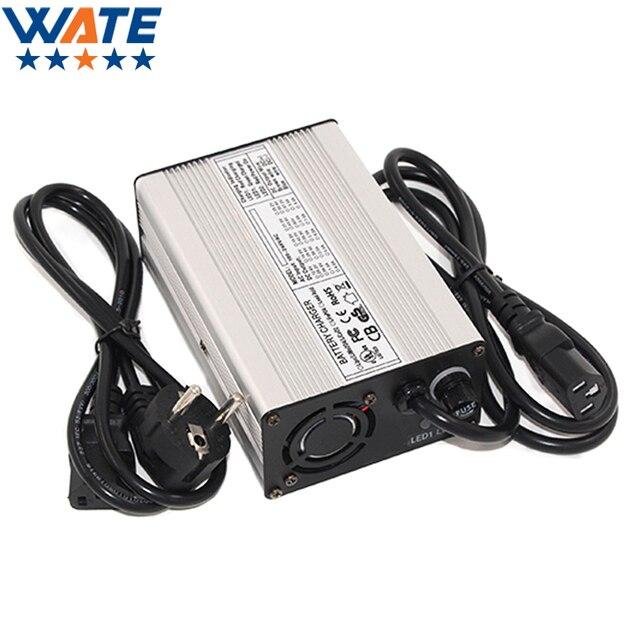 Carregador wate 54.6v 2a 13s 48v, carregador de bateria de íon de lítio, carregador automático de lipo/limn2o4/licoo2 pare de ferramentas inteligentes