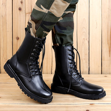 Military Leather Boots Size 50 For Men Black Tactical High Combat Shoes
