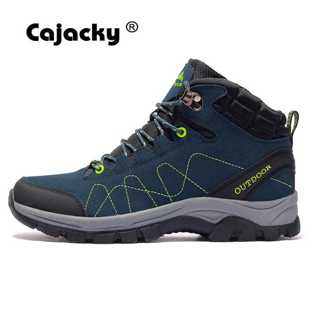 Cajacky חורף קטיפה טיולים גברים בתוספת גודל 46 45 מערכות חיצוני ספורט נעליים גבוהה למעלה מאמני יוניסקס Botas עמיד גומי