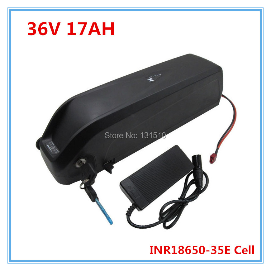 Free Shipping And Duty 36 V Hailong Battery 36v 17ah Lithium Battery For Electric Bikes 36v Li-ion Battery Pack With 2A Charger