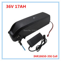 Free shipping and duty 36 V Hailong battery 36v 17ah lithium battery for electric bikes 36v li ion battery pack with 2A charger