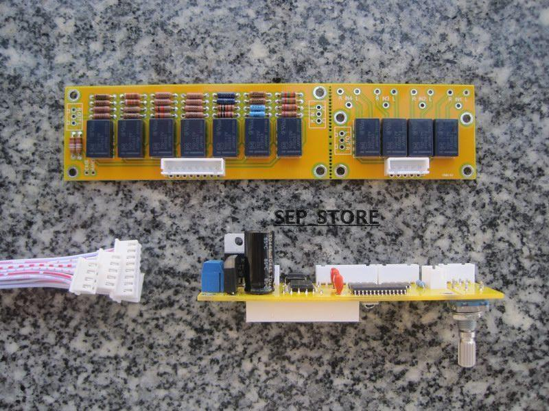 Assembled Remote Volume Board 128 Steps 2 Channel 50K Relays Preamp diy kit hifi remote volume control kit 128 steps dual display 50k